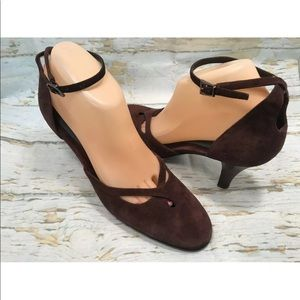 "Aerosoles ""Party Dress"" Brown Suede  Heels 8.5 M"